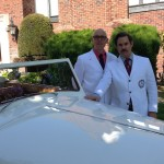 Drs. McConville and Tompkins peruse the Bentley.